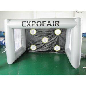 Aufblasbares Fussballtor für Radarmessungen