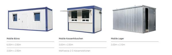 Container für Büro, Lager oder als Kassenhäuschen