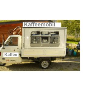 Piaggio mit Aufbau Kaffeestube