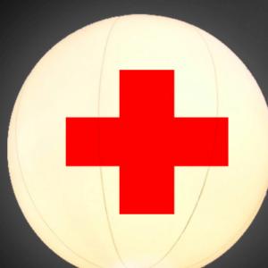 Leuchtballon / Heliumballon «Sanität» / «Erste Hilfe»